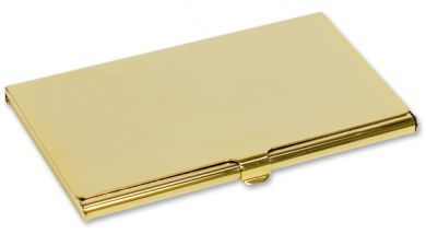 Personalised Engraved gift Card holder Gold Plated